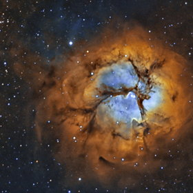 M20 Trifid Nebula in 2-channel narrowband