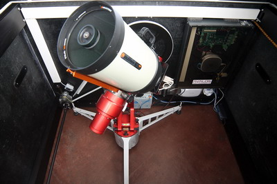 M-Uno Equatorial Mount inside Merlino Personal Remote Astronomical Observatory
