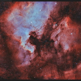 NGC7000 North America Nebula and IC5070 Pelican Nebula